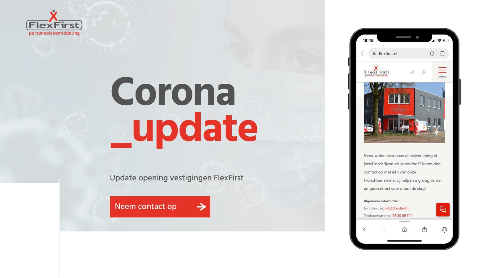 Coronavirus update FlexFirst